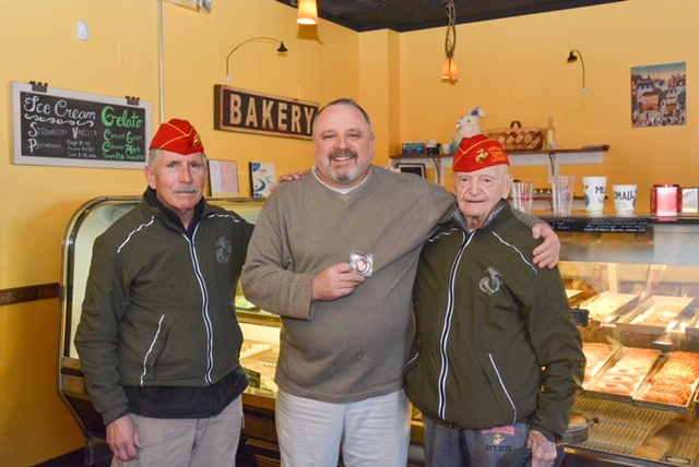 Keith with E.A. Hall, LtCol, USMC (Ret) & Lou Schott Col, USMCR (Ret)